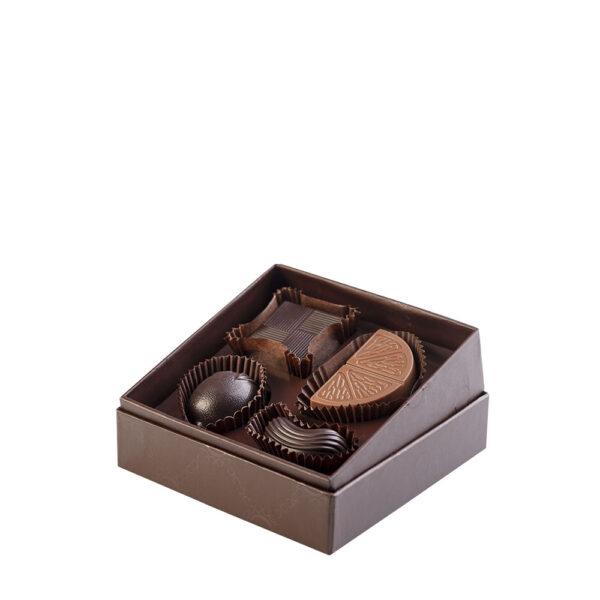 Confezione Roccaforte di Color Cioccolato - 4 cioccolatini artigianali- Reggio Calabria